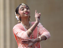 Indian native teen dances at culture festival. Stock Photo