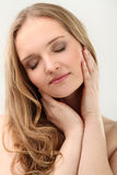 Young natural woman with clear face Stock Images