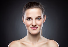 Young natural woman with great skin complexion Royalty Free Stock Image