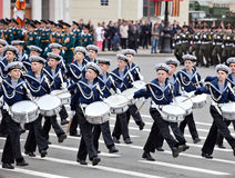 Young navy on the parade Royalty Free Stock Images