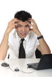 Young Nepalase businessman stressed Royalty Free Stock Images