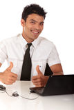 Young Nepalase businessman, thumbs-up Stock Photography
