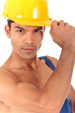 Young Nepalese attractive carpenter Royalty Free Stock Images
