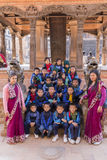 Young Nepalese students on a school trip to Bhaktapur Royalty Free Stock Photography