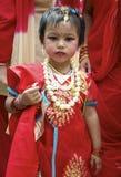 Young Nepali Girl Celebrating Tej Royalty Free Stock Image