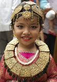 Young Nepali Girl Dressed as a Kumari Royalty Free Stock Images
