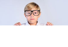 Young nerd boy Stock Photo