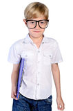 Young nerd boy Royalty Free Stock Image