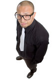 Young nerdy businessman stock image