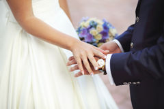 Young newly wed couple Stock Photos