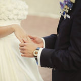 Young newly wed couple Royalty Free Stock Photography