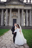 Young newly wed couple Stock Photography