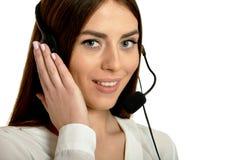 Young nice call operator woman Royalty Free Stock Image