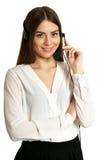 Young nice call operator woman Stock Photos