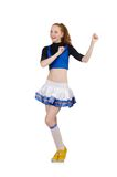 Young nice cheerleader Stock Photos
