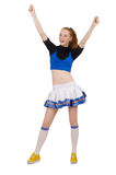 Young nice cheerleader Royalty Free Stock Photos