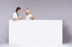 Young couple during an argument Royalty Free Stock Image