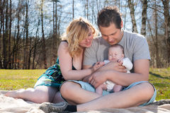 Young nice family Royalty Free Stock Images