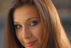 Young nice girl Stock Photos