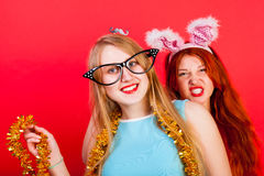 Young nice girl have fun Royalty Free Stock Images