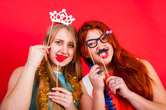 Young nice girl have fun Royalty Free Stock Photos