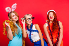 Young nice girl have fun Royalty Free Stock Image