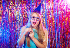 Young nice girl have fun Royalty Free Stock Photography