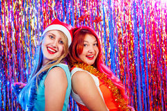 Young nice girls have fun Royalty Free Stock Image
