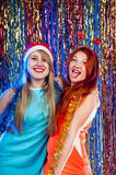 Young nice girls have fun Royalty Free Stock Photo