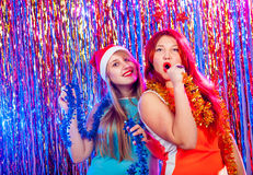 Young nice girls have fun Royalty Free Stock Photography