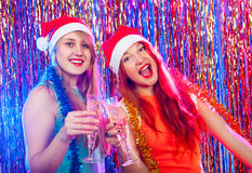 Young nice girls have fun Stock Photo
