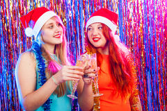 Young nice girls have fun Stock Images