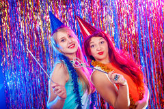 Young nice girls have fun Royalty Free Stock Photos