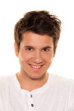 Young, nice man, friendly smile. Portrait. On a white background Royalty Free Stock Images
