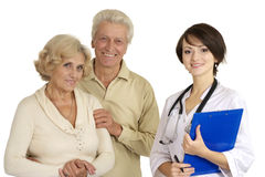Young nice nurse with elderly patient Royalty Free Stock Photography