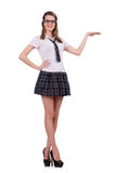 The young nice student female holding isolated on Royalty Free Stock Photos
