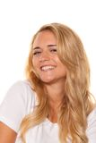 Young nice woman. Cheerful smile. Portrait Royalty Free Stock Image