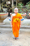 Young novice monks Stock Images
