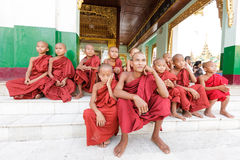 Young novice monks Stock Photo