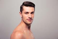 Young nude man looking at camera Royalty Free Stock Photo