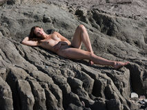 Young nude woman Stock Images