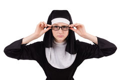 Young nun isolated Stock Image