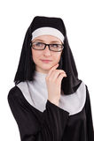 Young nun isolated Stock Images