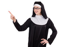 Young nun isolated Royalty Free Stock Image
