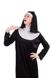 Young nun isolated Royalty Free Stock Photography