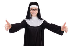 Young nun isolated Royalty Free Stock Photo