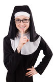Young nun isolated Royalty Free Stock Images