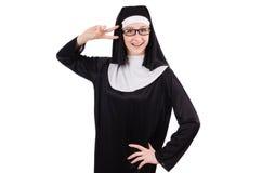 Young nun isolated Stock Photos