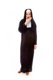Young nun looking shock Royalty Free Stock Photos