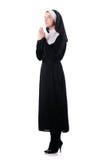 Young nun. In religious concept stock photos